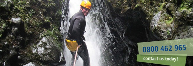 AWOL Adventures canyoning abseiling waterfall